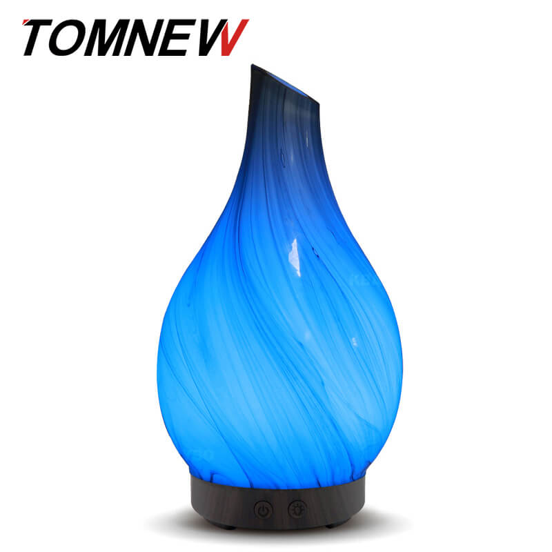 100Ml Aromatherapy Ultrasonic Essential Oil Diffuser Glass Aroma Diffuser Cool Mist Humidifier LED Light Home Office Yoga