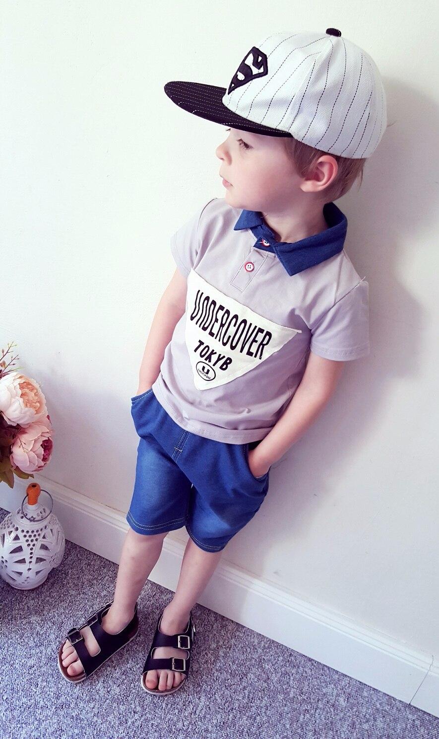 Летний костюм для мальчика с Алиэкспресс