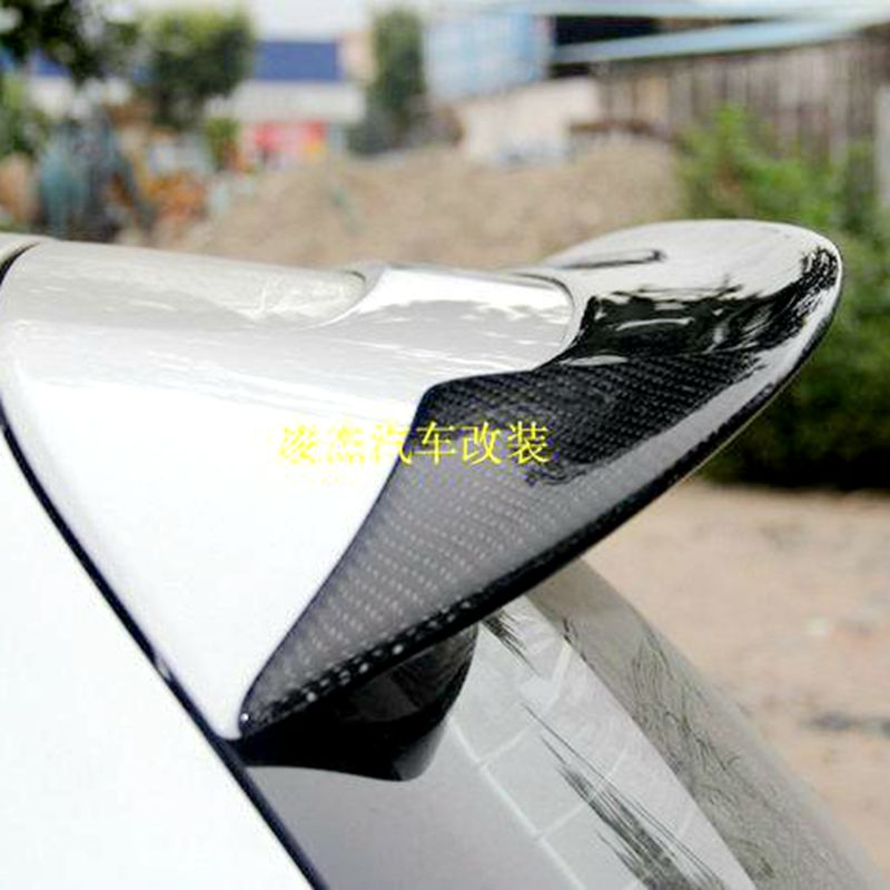 Carbon Fiber Car Rear Roof Spoiler Boot Lip Wings For Volkswagen VW Golf 6 VI MK6 R20 GTI 2010-2013 O Style car styling carbon fiber auto rear wing spoiler lip for vw scirocco 2010 2012