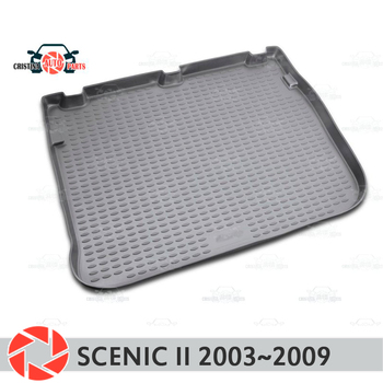Trunk mat for Renault Scenic 2 2003~2009 trunk floor rugs non slip polyurethane dirt protection interior trunk car styling фото