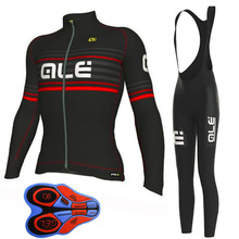 2018 Pro Team ALE  Cycling Clothing Long sleeve Autumn Men Cycling jersey MTB bike maillot Ropa Ciclismo outdoor Sportwear