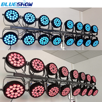 No tax custom 32pcs/lot flat Mini LED par light 18pcs RGBW 4in1 18x10W slim Par Lights DMX party stage event