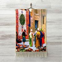 Else Vintage Ottoman Rug Carpet Salesman Design 3D Print Decorative Gift Wall Art Rope Hanging Rug Carpet Tasseled Tapestry