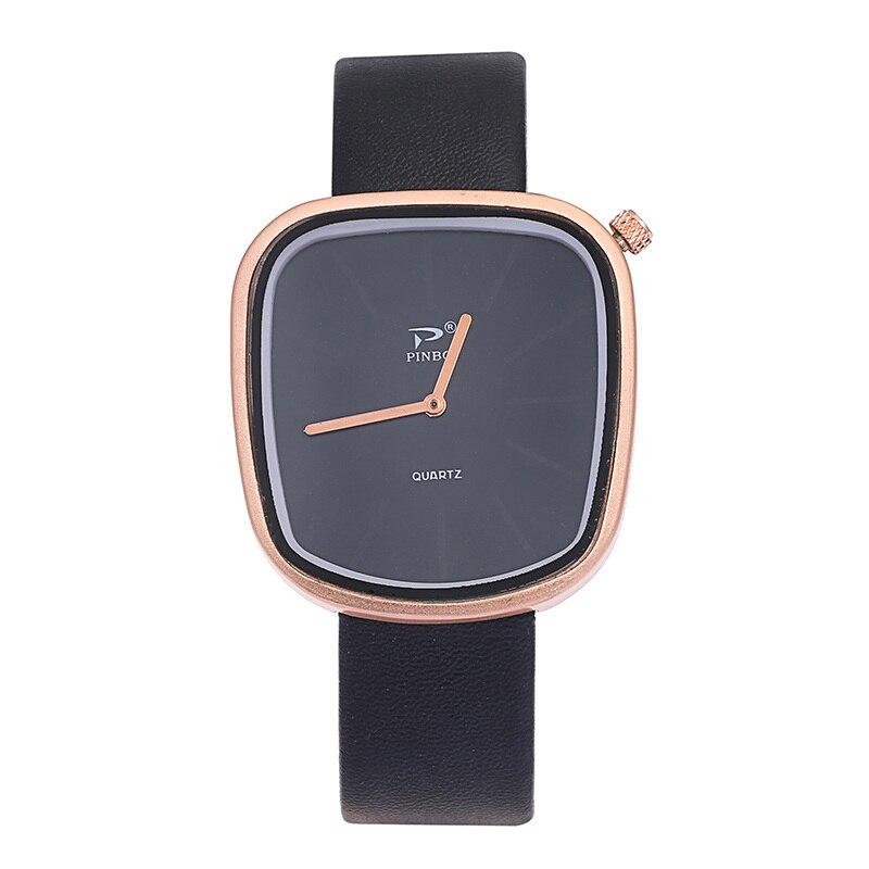Men Watches Fashion Japan Quartz Black Luxury Ultra Thin Man Business Watch Hand Woman Leather Watch kol saati Relogio Masculino