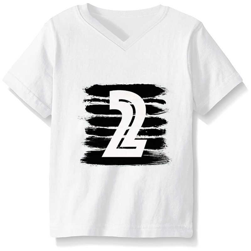 เสื้อผ้าเด็กเสื้อผ้าเด็กสาววันเกิดชุดผ้าฝ้าย 1 ถึง 5 ปีเด็กชาย T เสื้อ Tops เสื้อผ้าเด็ก Rock สีขาวสีดำ Tees