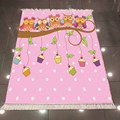 Еще милые совы Розовые белые точки чашки торты 3d микрофибра противоскользящая задняя моющаяся декоративная детская комната килим ковер