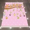 Sonst Nette Eulen Rosa Weiße Punkte Tasse Kuchen 3d Mikrofaser Anti Slip Zurück Waschbar Dekorative Kinder Kelim Zimmer Bereich Teppich teppich-in Lumpen aus Heim und Garten bei