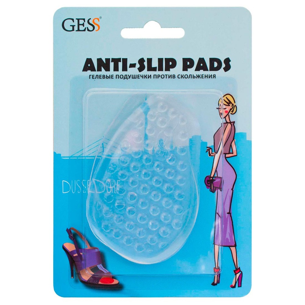 Фото - Anti-Slip Pads Gel pads for feet anti slip, gel shoes insole, mini inserts for shoes, cosmetic leg, universal insole GESS gel pads under the distal part of the foot gess soft step gel pads foot insoles comfortable shoes gessmarket