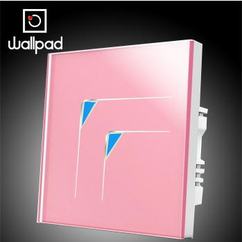 Wholesale Wallpad Luxury Pink Wall Switch Panel Light Switch,2 Gangs 1 Way Touch Wall Switch LED 10A,110~250V 220V,Free Shipping
