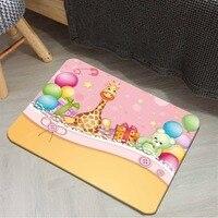 Else Yellow Pink Party Balloons Giraffe Green Bear 3d Cartoon Print Anti Slip Doormat Home Decor Entryway Kids Children Room Mat