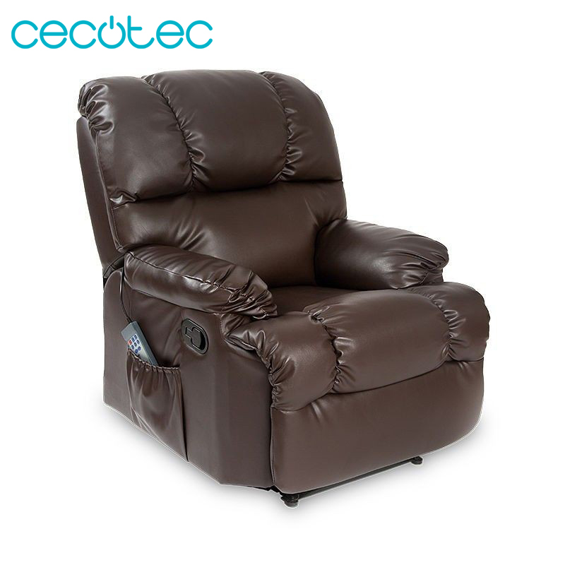 Cecotec Massage Chair Multi Function Heat 10 Massage Functions 8 Motors Maximum Rest Brown Beige Black And Camel