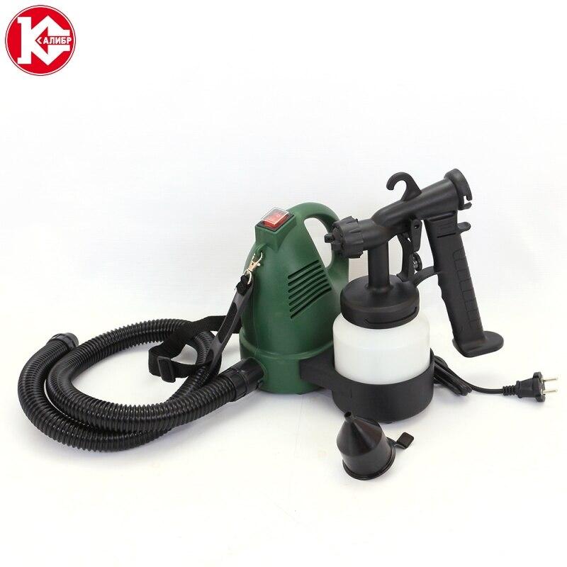 Kalibr EKRP-600/0.8 Electric Paint Sprayer Household Painting Spray Gun Kit Power Tools kalibr ekrp 350 2 6m electric spray gun latex paint airbrush paint spray gun