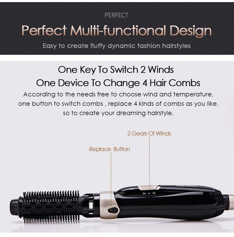 Pritech secador de cabelo escova 4 em