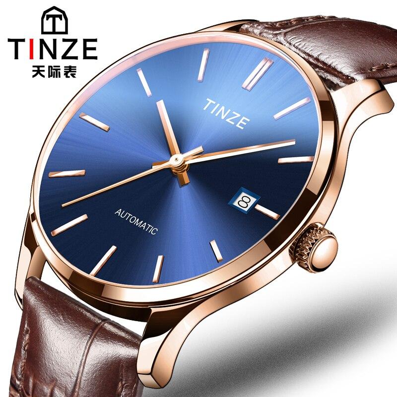 Mechanical Wristwatches Mens Watches Week Display Luminous Top Brand Luxury Vintage Waterproof Watches Mens Skeleton Watch