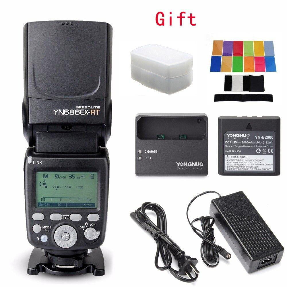 YONGNUO YN686EX-RT Batteria Al Litio Speedlite 1/8000 s TTL M MULTI Wireless Falsh Per Canon 5D II 7D 6D 60D 700D 30D 40D 650D
