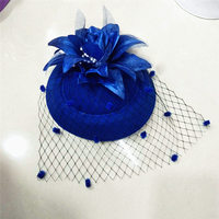 African New Style Cap Fascinating Hats Headband Womens Feather Flower Brides Hair Accessories Wedding Hair Clip