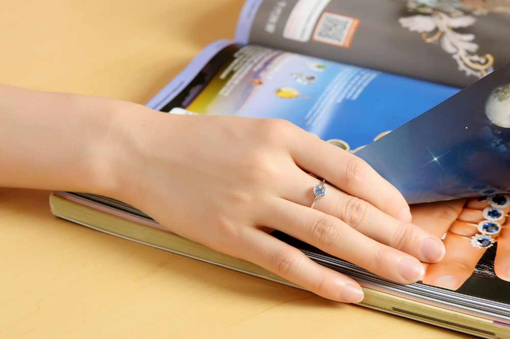 DORMITH Настоящее серебро 925 пробы кольцо натуральный голубой топаз кольца драгоценный камень кольца для женщин ювелирные изделия кольца