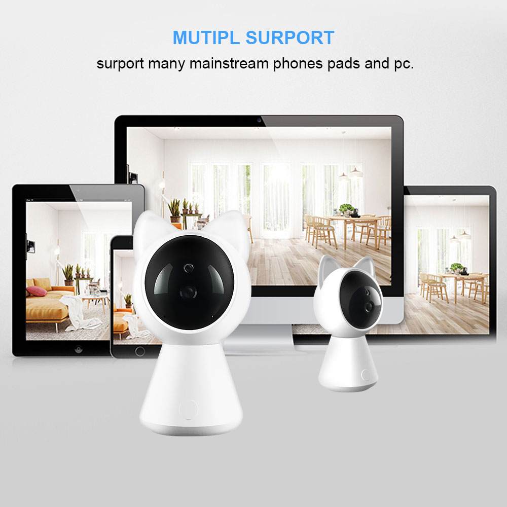 ET Cat IP WiFi Camera A280 HD 1080P Video Home Safety Monitor With Alarm Night Vision Two-way Audio For Smartphone Recording US(China)