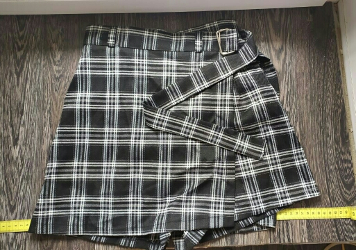 Summer Women Skirt Harajuku Plaid A Line High Waist Casual Fashion Kawaii Student Skirts Whit Shorts photo review