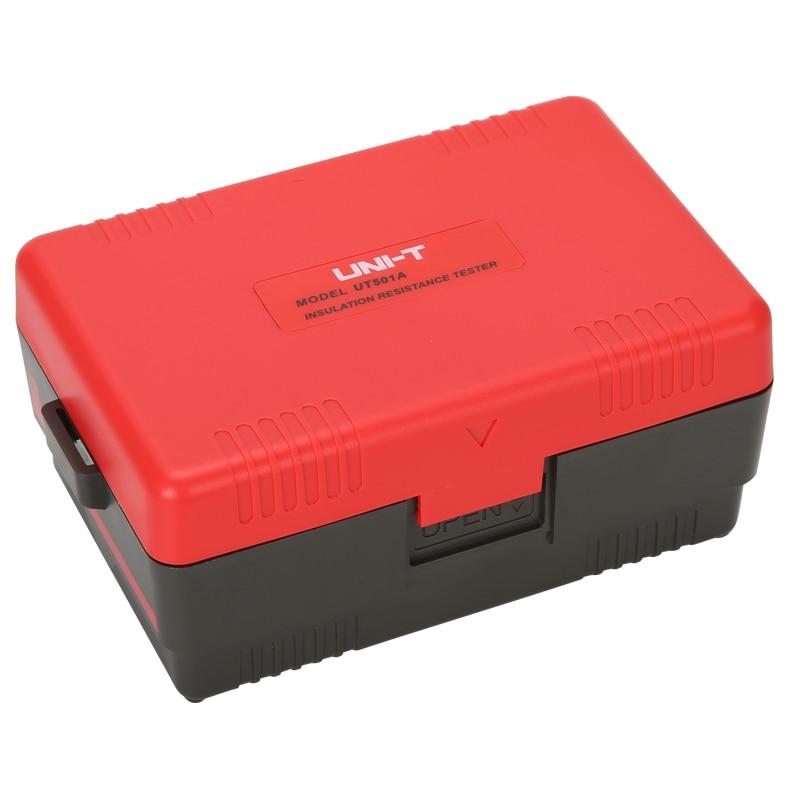 UNI T UT501A Insulation Tester; 1000V Digital Megohmmeter, Light/Buzzer Alarm, Over Load Indication, Automatic Discharge - 5