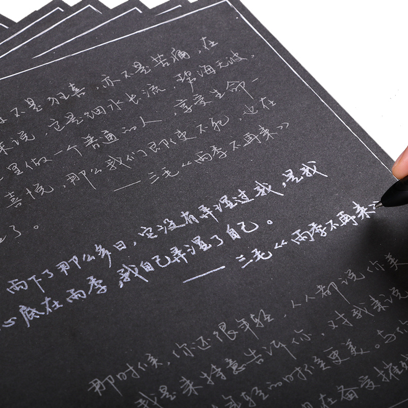 New Black personality Pen Copybook For Adult Groove Chinese Character Exercise Beginners Practice Regular Script Calligraphy купить недорого в Москве