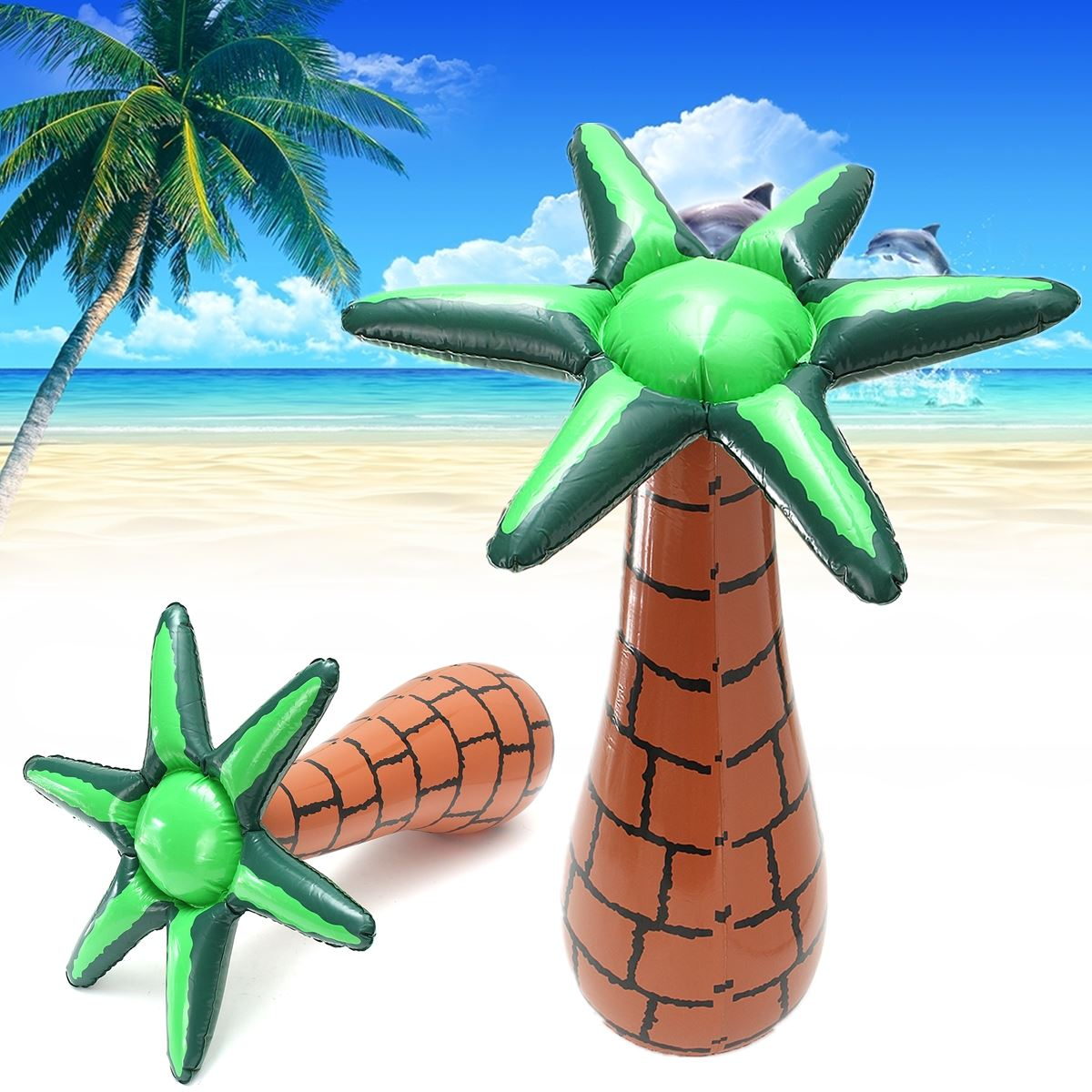 60cm Inflatable Floating Coconut Palms Tree Swimming Pool Beach Lawn Toy  Decor Summer Party Events DIY