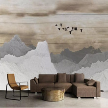 Hand-painted mountain peaks TV background wall professional production mural factory wholesale wallpaper mural poster photo wall hand painted color oil painting background wall professional production mural factory wholesale wallpaper poster photo wall