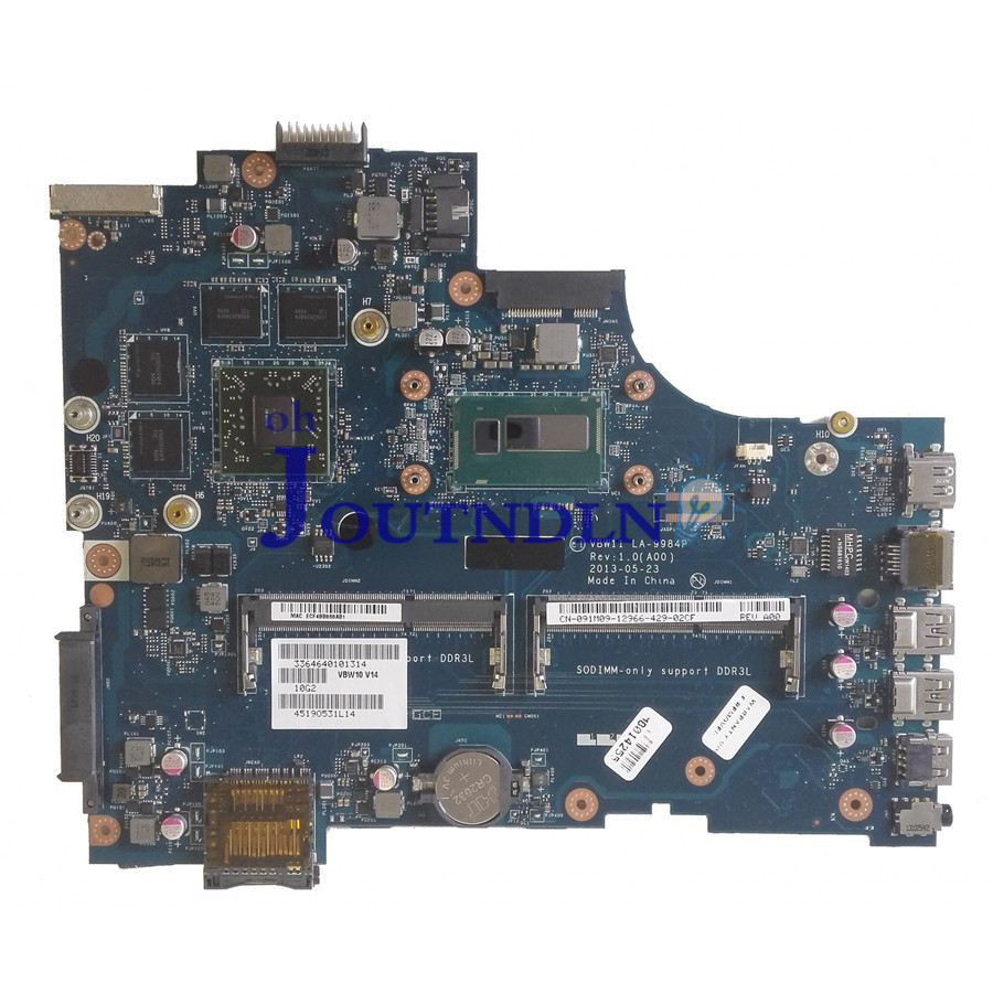 Laptop Accessories Computer & Office Joutndln For Dell Inspiron 17 3737 17r 5737 Laptop Motherboard 91m09 091m09 Cn-091m09 W/ I5-4200u Cpu 216-0846000 Gpu La-9984p Demand Exceeding Supply