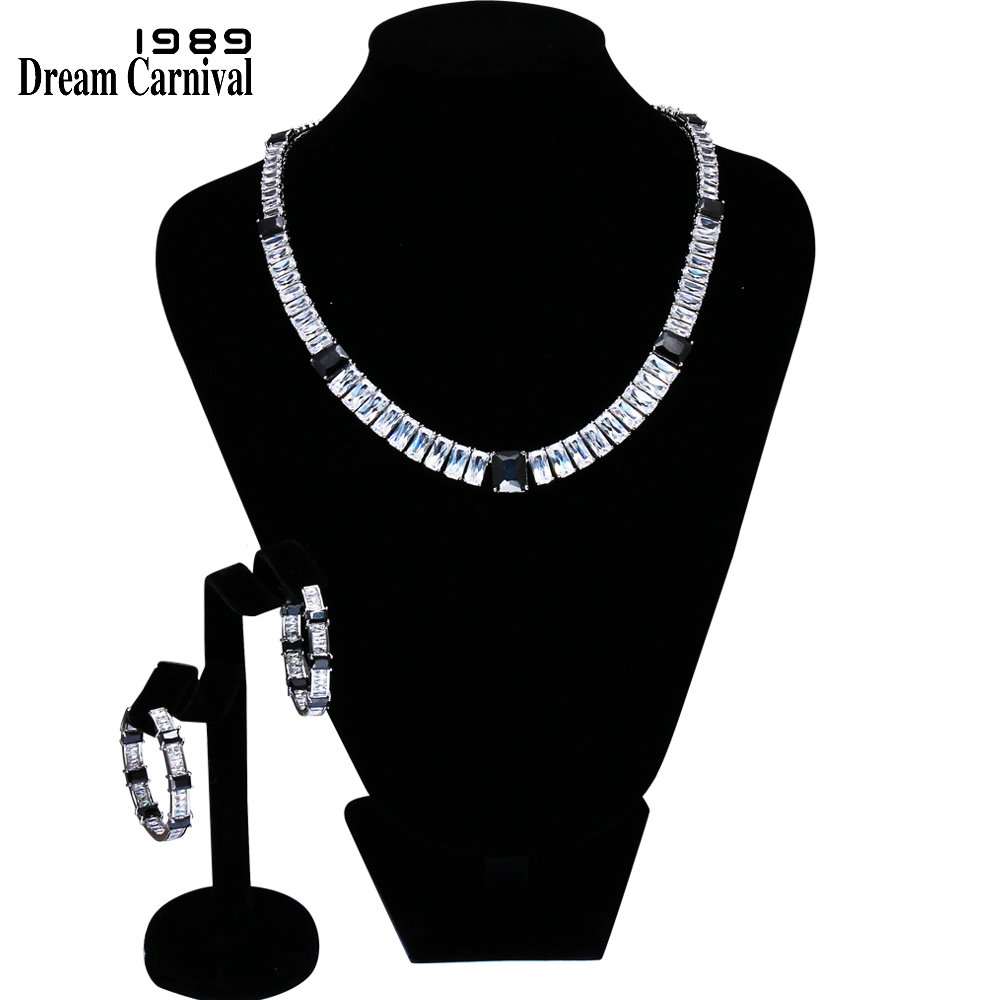 DreamCarnival1989 Marquise Cut Necklace and earrings Sparkling White CZ Rhodium color Bridal Jewelry Sets for Women 61447-04DreamCarnival1989 Marquise Cut Necklace and earrings Sparkling White CZ Rhodium color Bridal Jewelry Sets for Women 61447-04