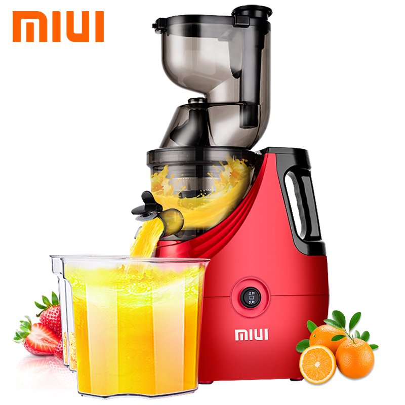 Large Diameter Wide Mouth Fruit Nutrition Slow Juicer Fruit Vegetable Tools Multifunctional Fruit Squeezer