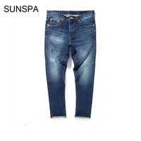 SUNSPA High Quality Men Jeans 2017 Autumn And Winter New Red Tannin Jeans Japanese Heavy Water