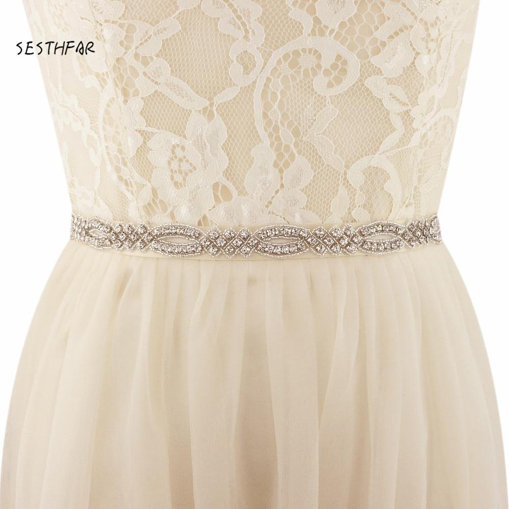 Handmade Wedding Dress Sash Belt Crystal Pearl Bridal Sash
