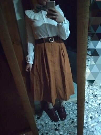 Surmiitro Autumn Winter Suede Velvet Skirt Female Midi Long Elegant Korean High Waist Skirt Women Blue A Line Pleated Skirt photo review