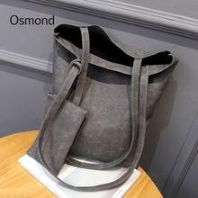 Osmond 2 pz Donne Set Borsa In Pelle Nabuk Borse Della Signora Totes  Inverno Stile Vintage di Grandi Borse A Tracolla Donna Bors. 60e6e35ec06
