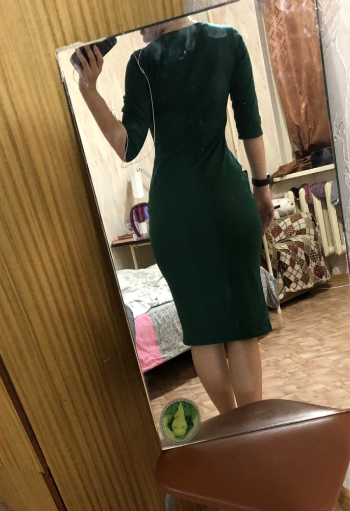 COLROVIE Work Summer Style Women Bodycon Dresses Sexy Casual Green Crew Neck Half Sleeve Midi Dress-in Dresses from Women's Clothing on Aliexpress.com | Alibaba Group