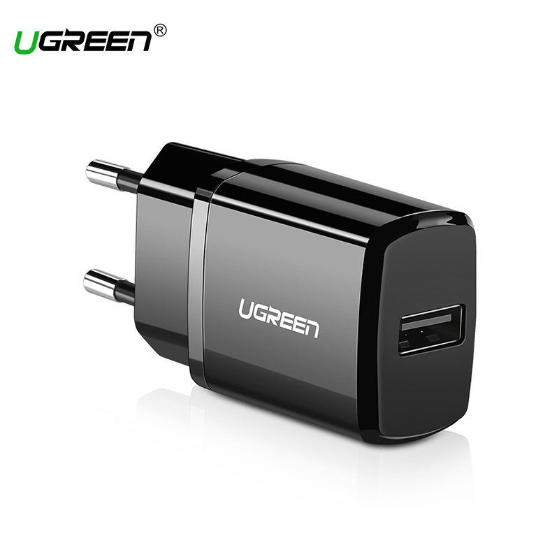 Ugreen Charger for iPhone X 8 7 iPad 5V 2.1A USB Fast Wall Charger EU Adapter for Samsung S9 Xiaomi Mi8 Phone Charger 50459 us plug battery charger dual 3 7v 900mah li ion batteries eu plug adapter set for sj4000 black