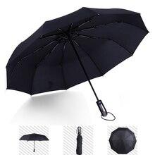 New Fully Automatic Folding Umbrellas Portable Classic Black Windproof Rainproof Sunshade Umbrella Unisex Sunny Rainy