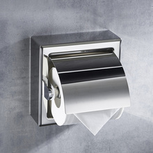 Stainless Steel Paper Holder, Polish SUS304 Tissue Dispenser, Lavatory Double Roll Storage, Wall Mounted, Designer Collection