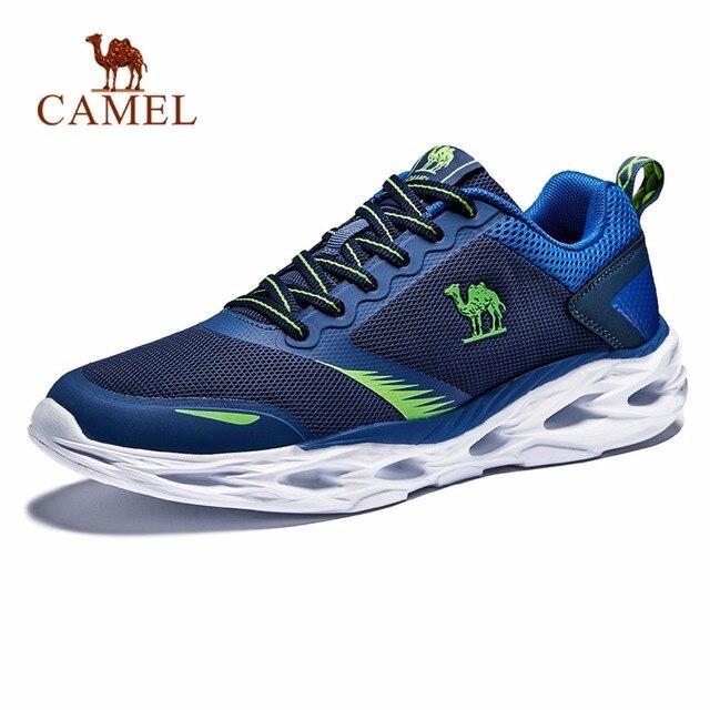 Dos Homens do CAMELO Almofada de Absorção de Choque Tênis de Corrida Leve Respirável Confortável Calçado Tênis Esportes Ao Ar Livre