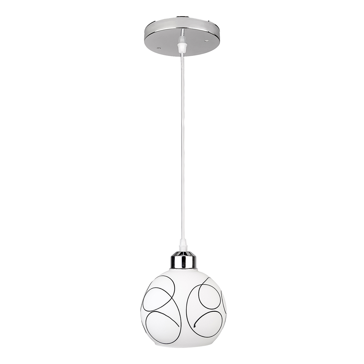 Modern Glass Iron Ceiling Light Lamp Chandelier Coffee Bar Decoration Fixture Home Hotel Indoor Lighting E27 Holder
