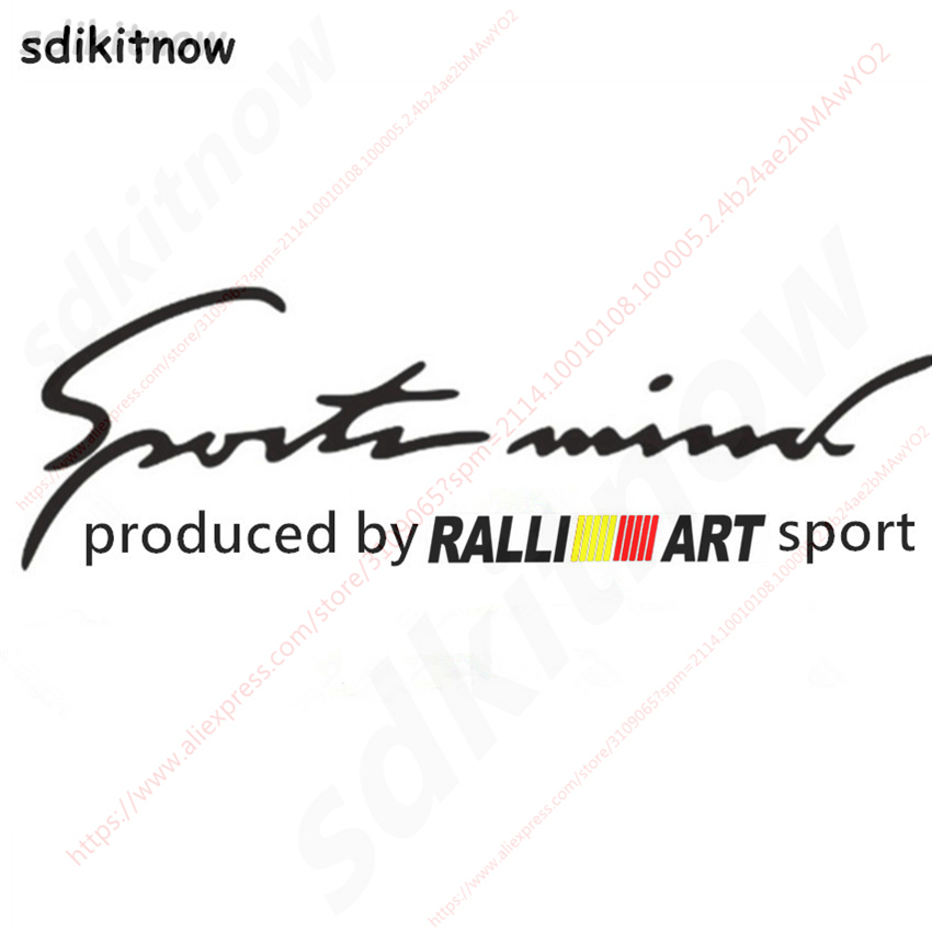 28x10cm RALLI ART ralliart Sports Car Windows Body Sticker