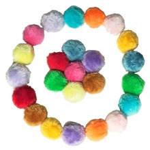 12 Piece/lot  Cat Toys Furry Rattle Ball for Kitty Candy color Assorted