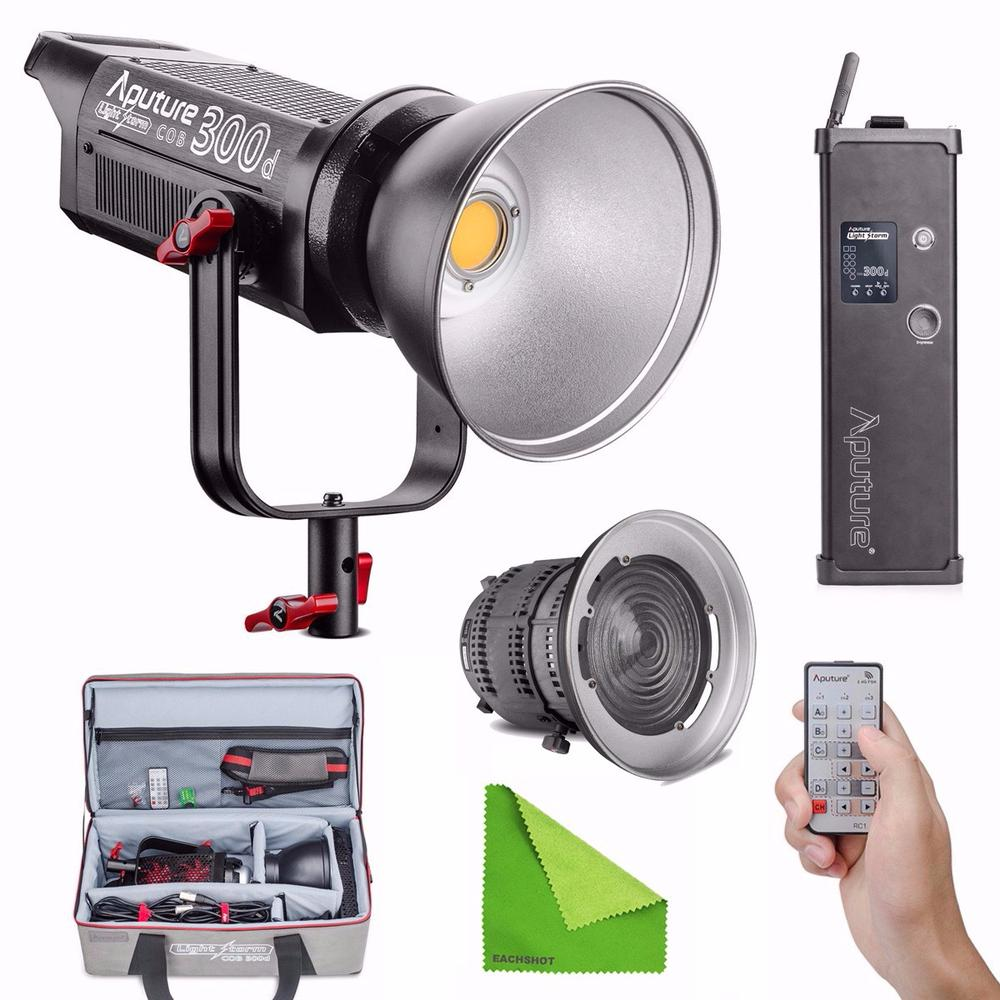 Aputure COB C300D 300D 300W 5500K Daylight Balanced LED Continuous Video Light with Fresnel Lens Mount CRI95+ V-Mount with Bag doumoo 330 330 mm long focal length 2000 mm fresnel lens for solar energy collection plastic optical fresnel lens pmma material