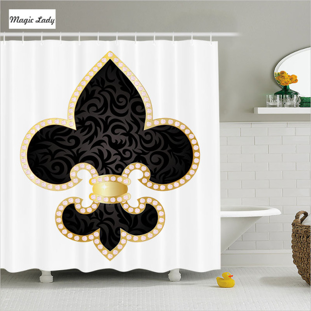Shower Curtains Luxury Bathroom Accessories Fleur De Lis Royal