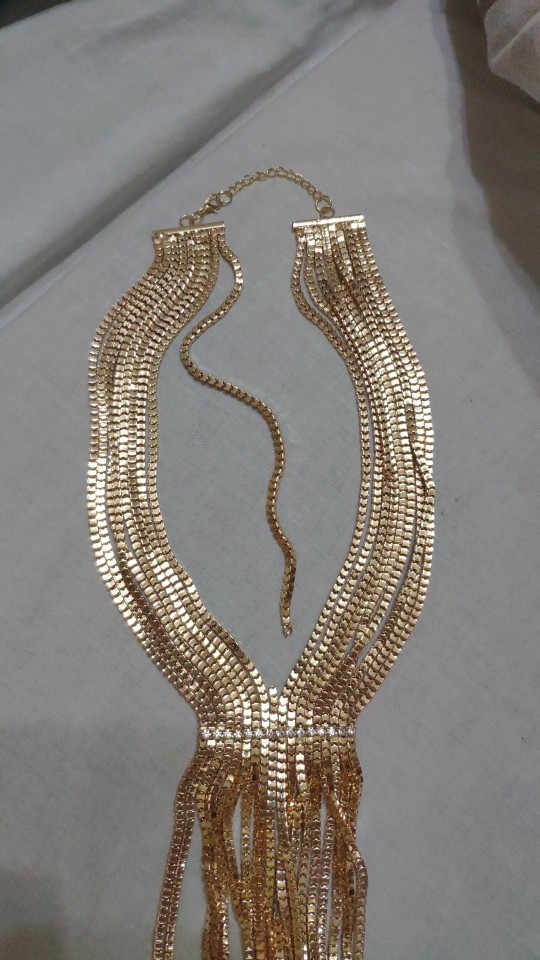 UKEN Boho Women Multilayers Chain Long Necklaces Fashion Accessories Rhinestones Chain Tassel Necklaces & Pendants Statement