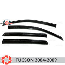 Дефлектор окна для hyundai Tucson 2004-2009 дождь дефлектор грязи Защитная оклейка автомобилей украшения Аксессуары Литья