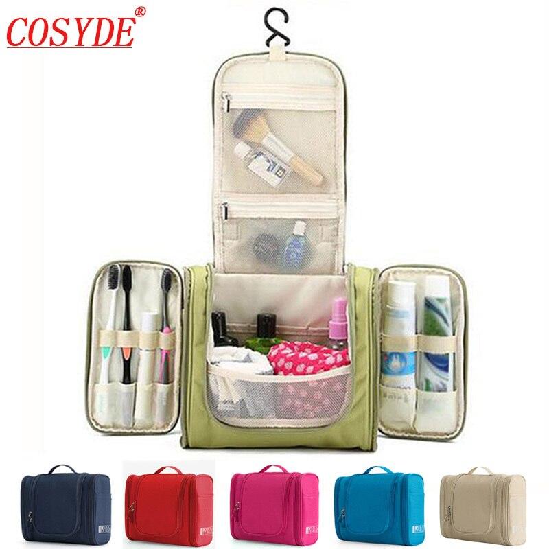 Imperméable à l'eau en Nylon organisateur de voyage sac unisexe femmes sac cosmétique suspendus voyage maquillage sacs lavage Kits de toilette sacs de rangement