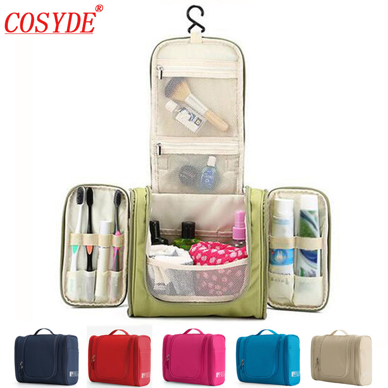 Waterproof Nylon Travel Organizer Bag Uni Women Cosmetic Hanging Makeup Bags Washing Toiletry Kits Storage