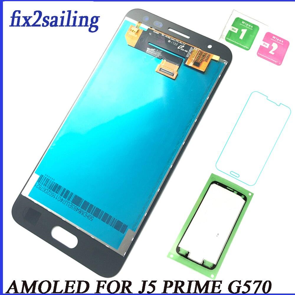 Fr Samsung Galaxy J5 Prime Amoled Lcd Display Touchscreen J5p G570 G570f G570k G570l Montage Ersatz Digitizer