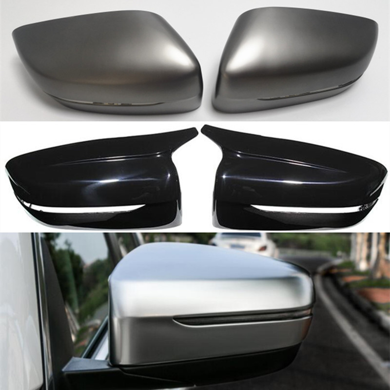 For BMW 3 5 6 7 8 Series G20 G30 G31 G32 G11 G12 G14 G15 G16 M5 F90 Side Wing Rearview Mirror Cover Caps Trim Replacement Black